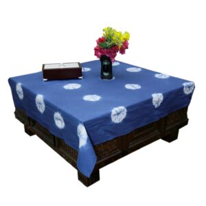 Hand Dyed Shibori Table Cover