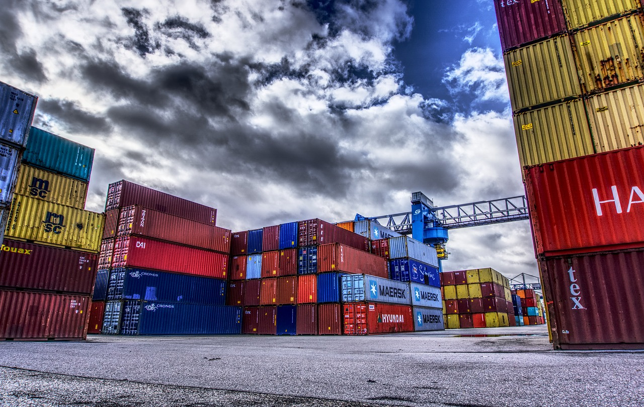 container, port, loading