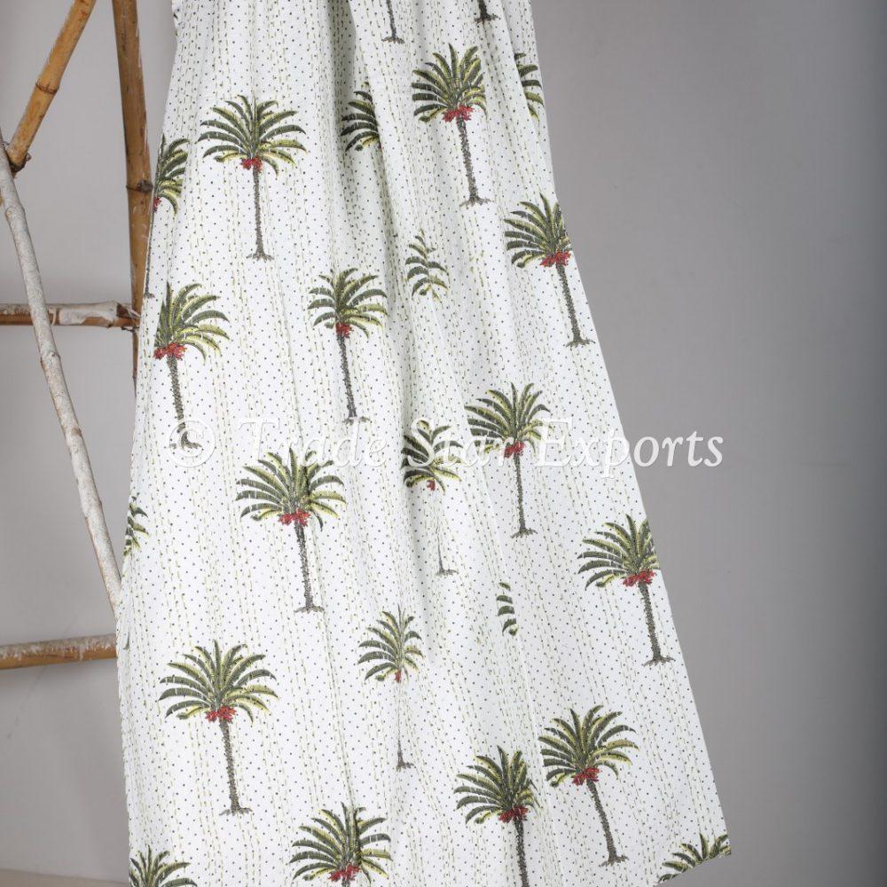 Hand Block Kantha Tree Printed Throw Blanket-TS-MK-590 (2)